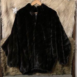 SORBARA for Neiman Marcus Black Mink Fur Coat
